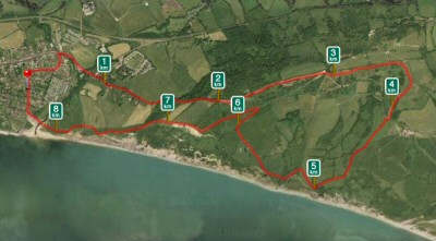 My medium length run on the Charmouth Challenge course